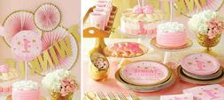 1st Birthday Baby Girl Decorations Party Planner Supplies Ba