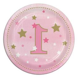 1st BIRTHDAY One Little Star Girl SMALL PAPER PLATES  ~ Part