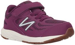 New Balance Girls' 519v1 Hook and Loop Running Shoe, Imperia