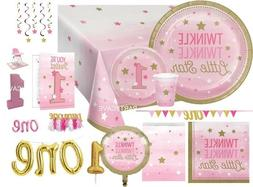 Age 1 First 1st Birthday ONE LITTLE STAR GIRL Party Range Ta