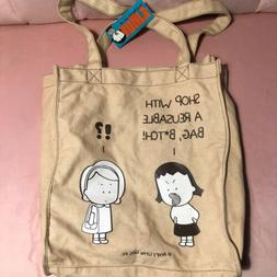 Angry Little Girls By leela Lee Tote Bag Reusable Bag Rare N