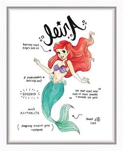 Ariel Diary Sketch Watercolor Style Framed Printed Canvas 13