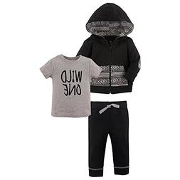 Yoga Sprout Baby 3 Piece Jacket, Top and Pant Set, Wild One