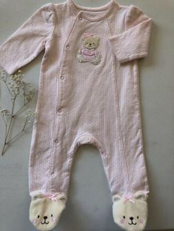 Baby Girl Bodysuit Long Sleeve 3 Months Pink Cloths  Warms B