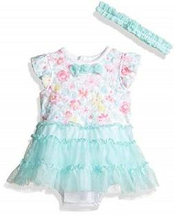 Little Me Baby Girls' 2 Piece Tutu Popover Dress with Headba