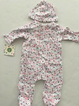 Little Me Baby Girls Coverall Hat Outfit Size 3 6 9 Months P