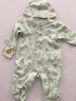 Little Me Baby Girls Coverall Hat Outfit Size 3 6 9 Months G