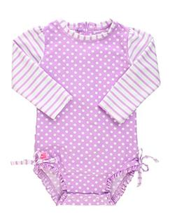 baby toddler girls lilac polka dot one