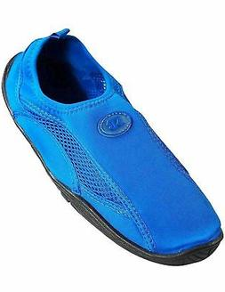 Bayville Starbay - Mens Slip On Water Pool Aqua Sock, Blue 3