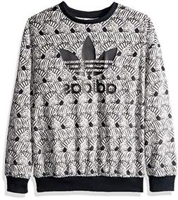 2635fa8b06099 adidas Originals Girls  Big Zebra Print Crew