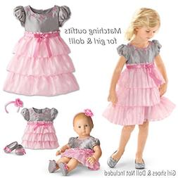 American Girl Bitty Baby DUO Twirly Tiered Dress for Little