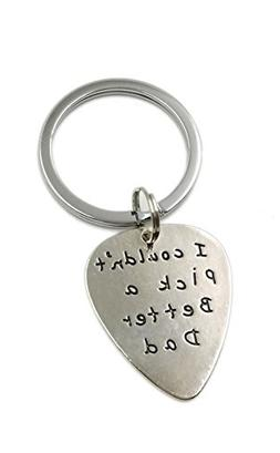 Charm.L Grace Father's Keychain Quote Guitar Pick I couldn't