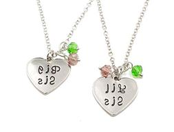 Charm.L Grace Matching Necklaces Keychain Crystal Heart Neck