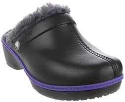 Crocs Cheerful Christy Fuzzy Clog ,Black/Graphite,11 M US Li