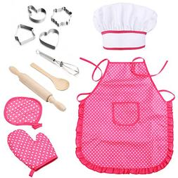 Mansalee Chef Set for Kids, Girls Apron Set, Easter Cookie C