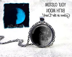 Your Custom Birth Moon Glow in the Dark Necklace or Key Chai