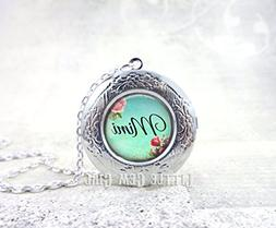 Custom Name Locket - 3 Metal Finishes Silver, Antique Bronze