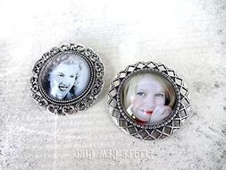 One Custom Photo Brooch - 2 Brooch Styles Available Personal