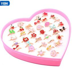 Cute Kids Cartoon Rings Little Girls Jewelry for Kids Birthd