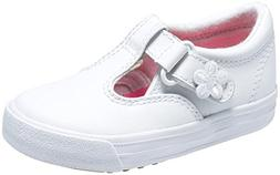 Keds Daphne T-Strap Sneaker ,White,12 M US Little Kid