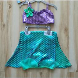 Deluxe 2018 Ariel Swimsuit For Girls 3 Piece Bikini Set Litt