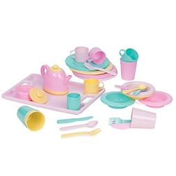 Play Circle by Battat – Dishes Wishes Dinnerware Set – 3