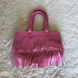 EUC H&M Little Girls Small Cute Fashion Fringe Purse Pink To
