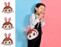 Fashion Dual-use Kids Girls Cute Backpack School Bags Crossb