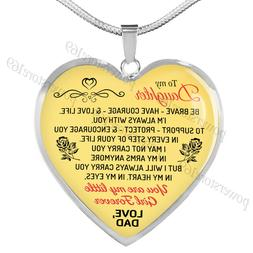 Father and Daughter Necklaces - Daughter Heart Pendant You a