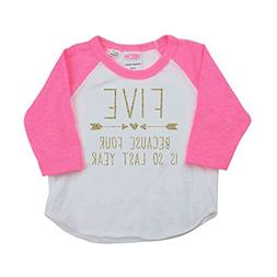 Bump and Beyond Designs Fifth Birthday Girl Shirt, Five Year