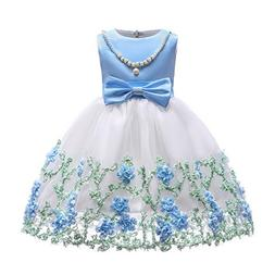 Flowers Girls Dresses Kids Christmas Day Toddler A Line Page