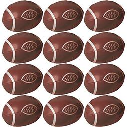 Amscan Football Frenzy Birthday Party Football Favor, Brown,
