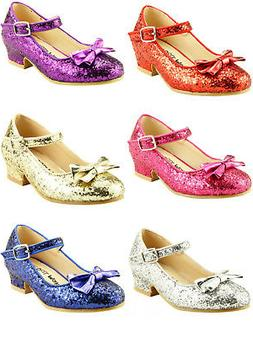 Girl's Wedding Party Glitter Dress Dance Shoes Toddler Littl