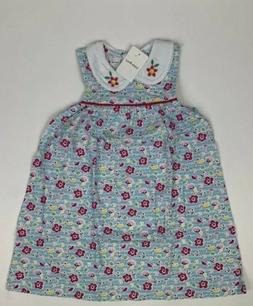 Little Bitty- Girls 3T Sleeveless Collared Floral Design Dre