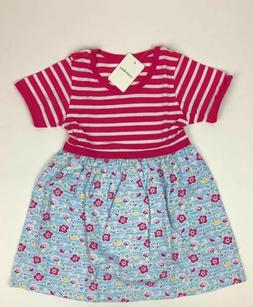 Little Bitty- Girls 4T Pink/ White Stripped Short Sleeve Flo