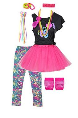 girls 80s t shirt costume outfit accessories