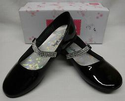 Little Angel Girls Black Patent Leatherette Round Toe SHOES
