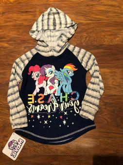 My Little Pony Girls Blue Long Sleeve Hacci Top with Graphic