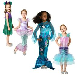 Girls Little Mermaid Ariel Princess Dress Cosplay Costumes F