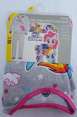 Girls My Little Pony Thermal Underwear Set  BRAND NEW WITH T