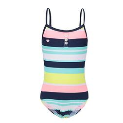 girls one piece swimsuit striped rainbow swimwear