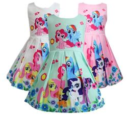 Girls Skater Dress Kids My Little Pony Print  Casual Party B
