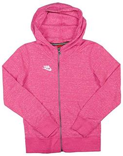 Nike Girls Sportswear Gym Vintage Full-Zip Hoodie Hooded Swe