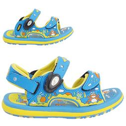 GP Kids Classic SNAP Lock Sandal: 8681 Lt. Blue & Yellow, EU