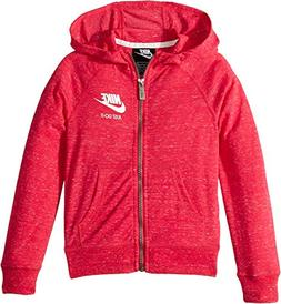 NIKE Kids Girl's Gym Vintage Full Zip Hoodie  Rush Pink 5