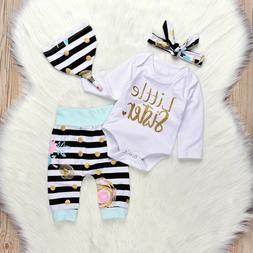 Infant Girls Letter Printed Tops Baby Clothing Suit Little S