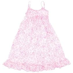 JC Collections Little Girls' Pink Whimisical Flowers Strappy