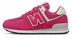New Balance Kid's 574 Little Kids Female Shoes Pink with Off