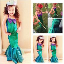 Kids Ariel Little Mermaid Set Girl Princess  Fancy Dress Par