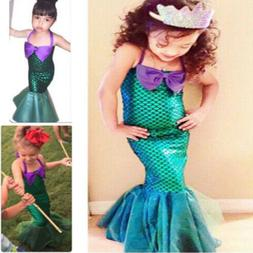 Kids Ariel Little Mermaid Set Girl Princess Dress Party Cosp